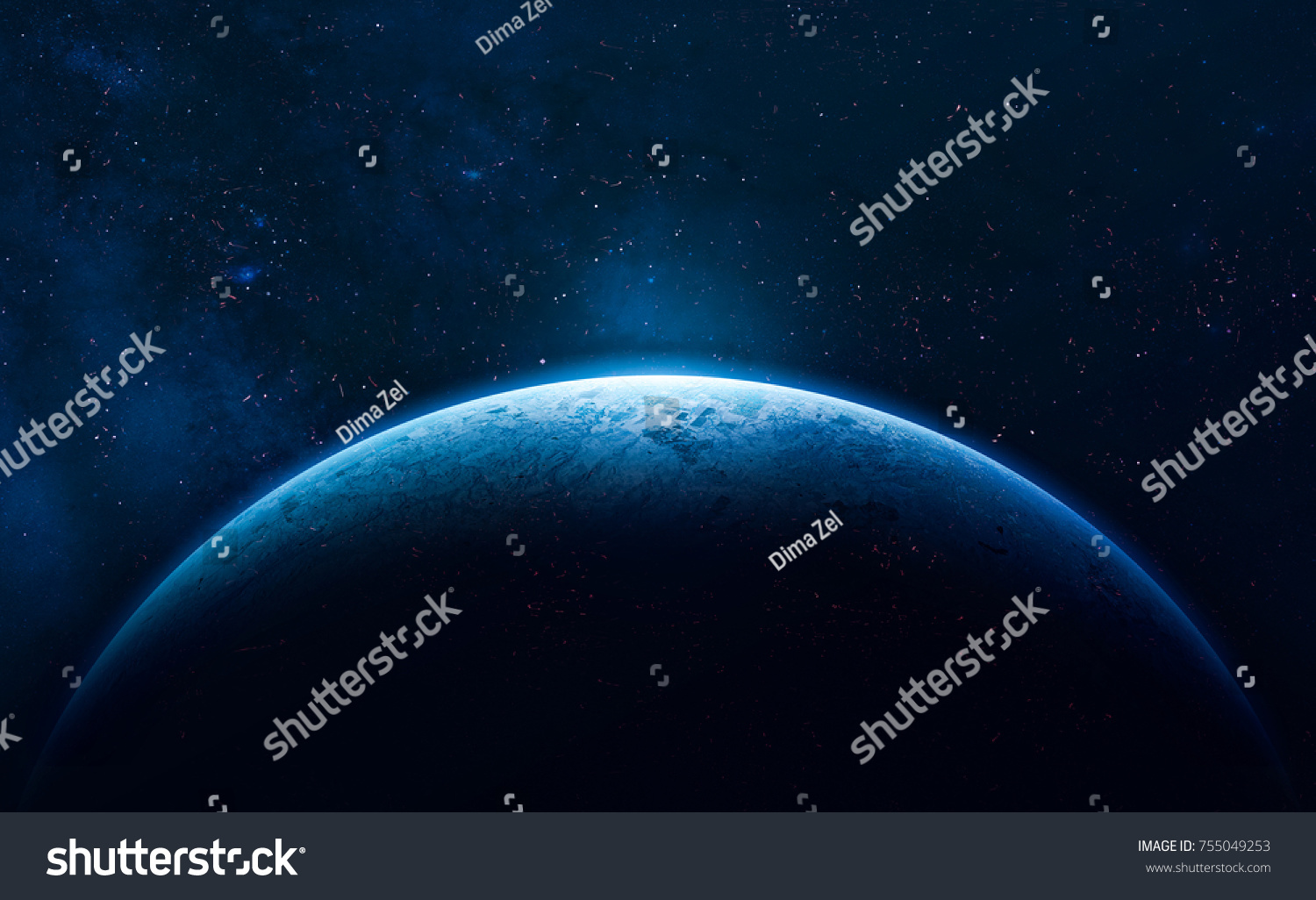 stock-photo-blue-earth-in-the-space-colorful-art-solar-system-blue-gradient-space-wallpaper-elements-of-755049253