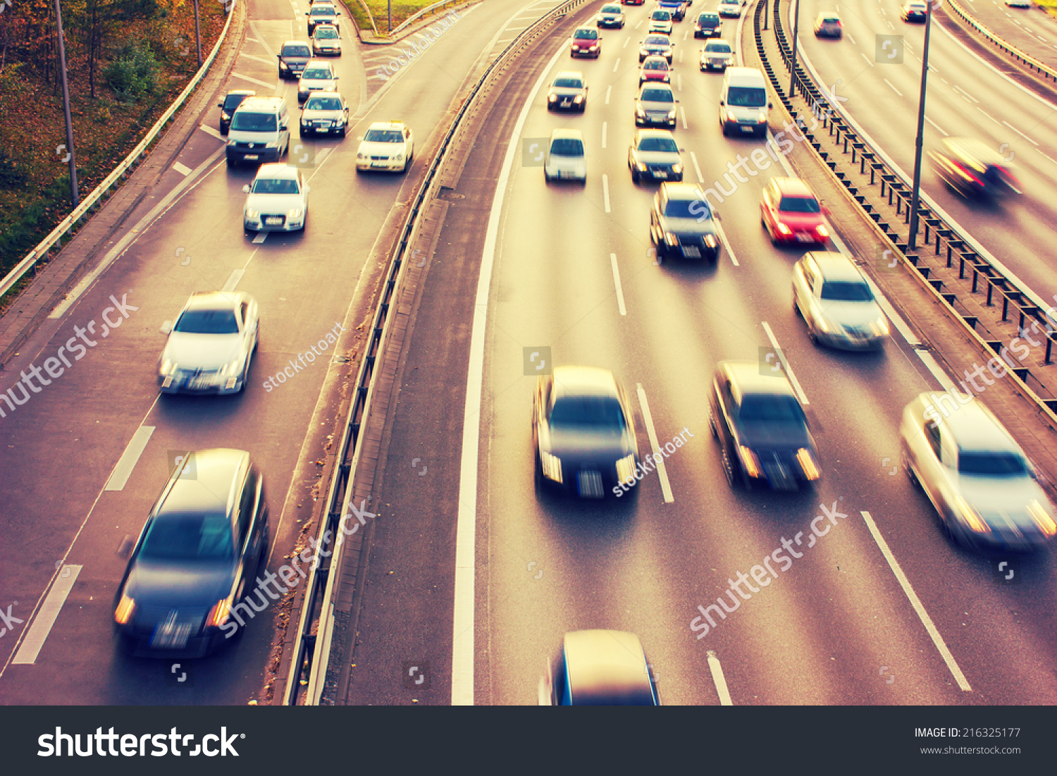 stock-photo-motorway-during-rush-hour-with-a-retro-vintage-216325177